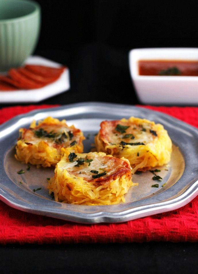 Nutrition Spaghetti Squash Pizza Nests