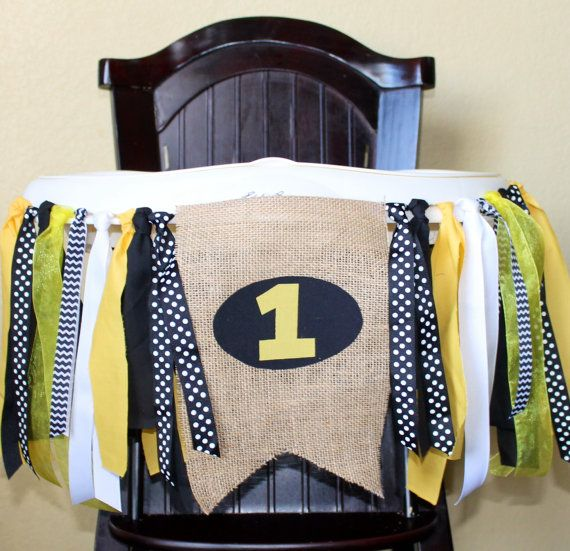 Batman Birthday Banner, Superhero High Chair Garland, High
