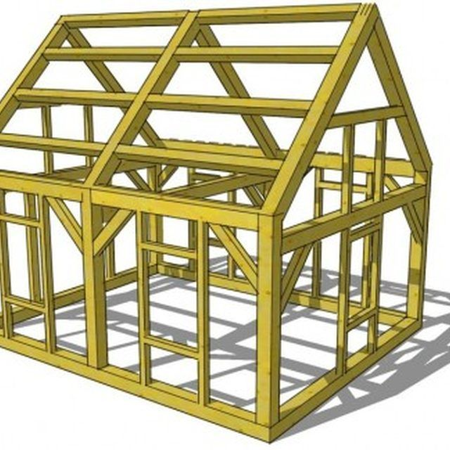How To Build 18x20 Storage Buildings Ehow A Frame House Kits Metal Building Homes Cost Built In Storage