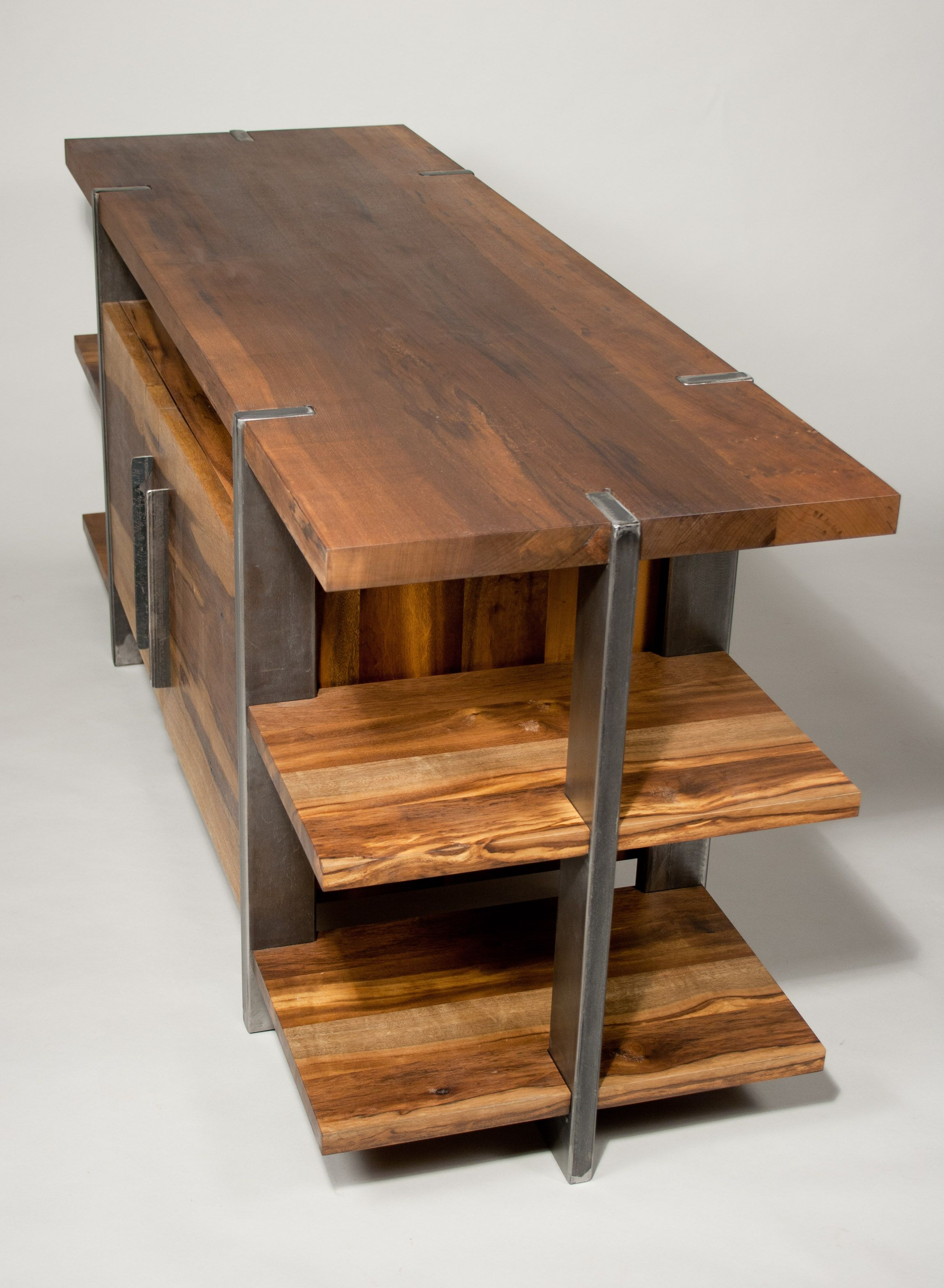 Reclaimed wood entertainment center google search sun for Reclaimed wood table designs