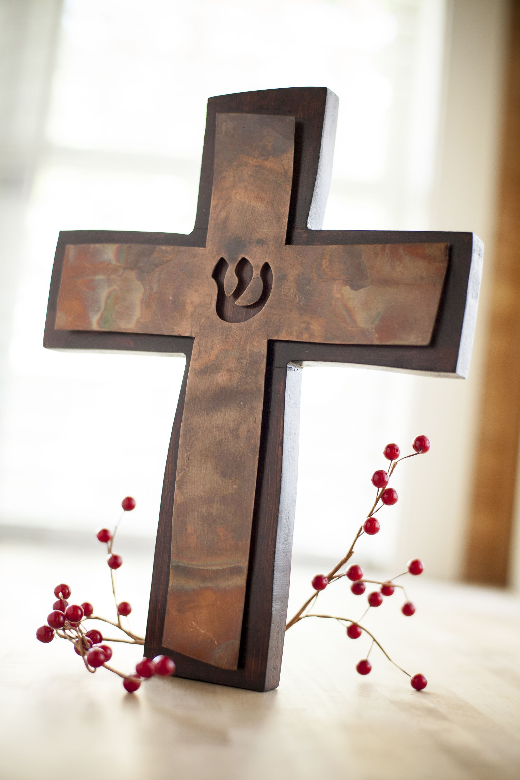 Gift under 40 mary marthas copper cross 32 the