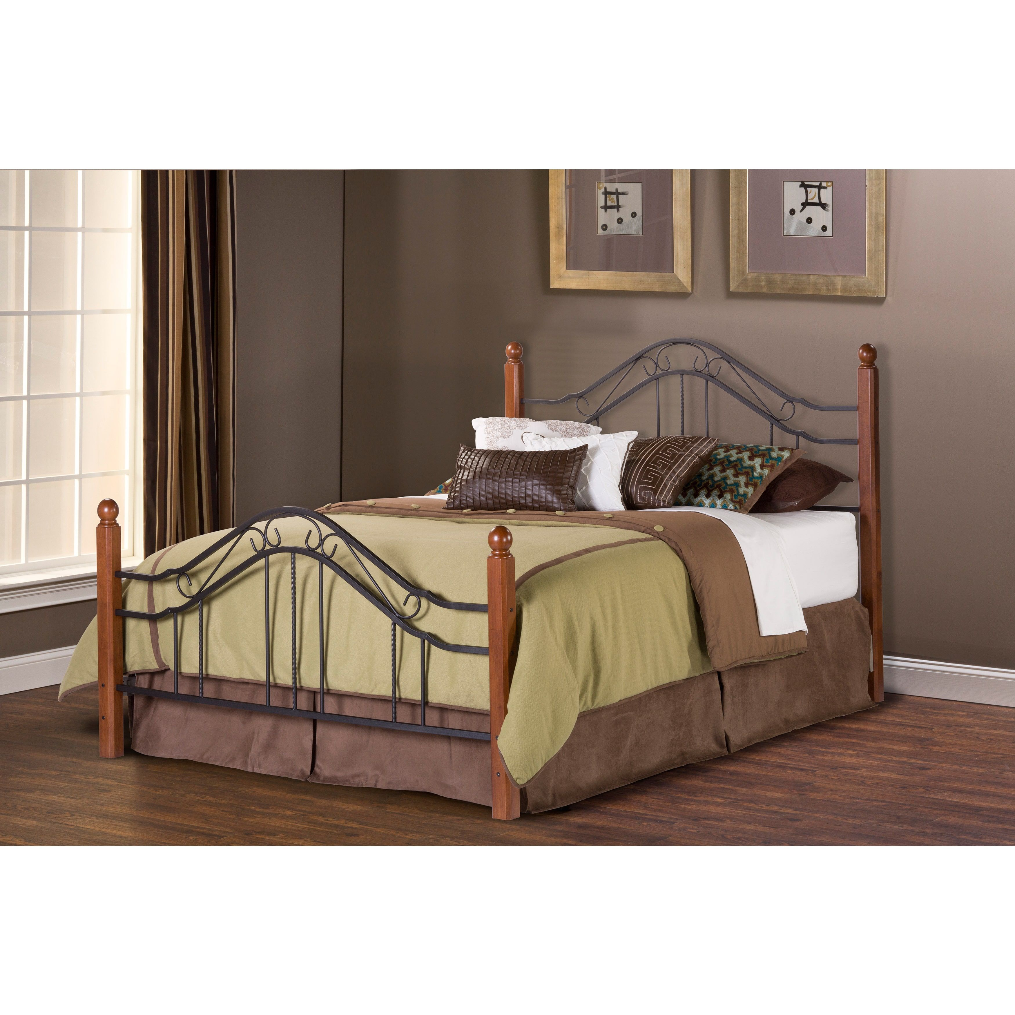 Hillsdale Madison Metal Frame Bed Set (Queen), Black