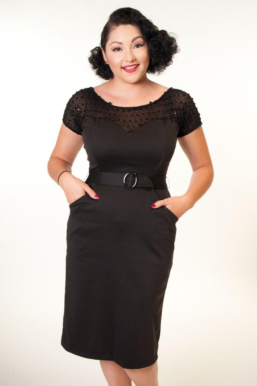 Rhonda Dress - Black Glitz