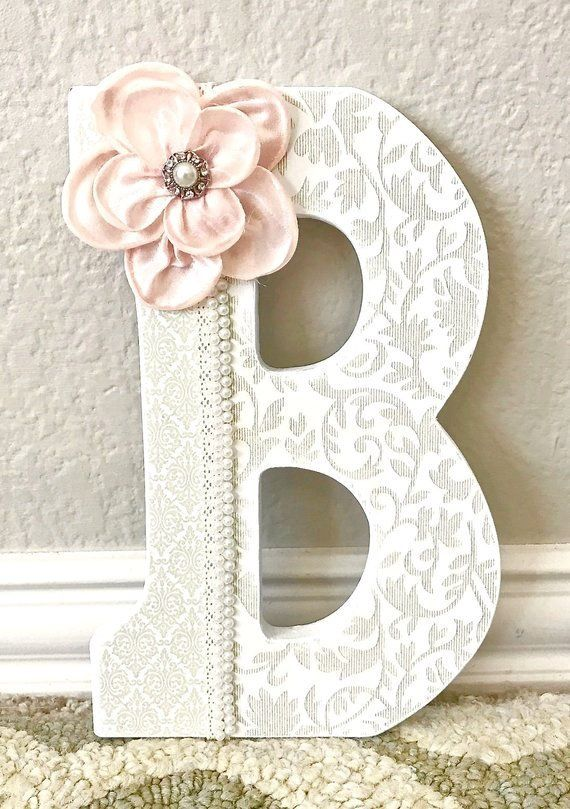 Pink And Gold Nursery Decor Letters Wood