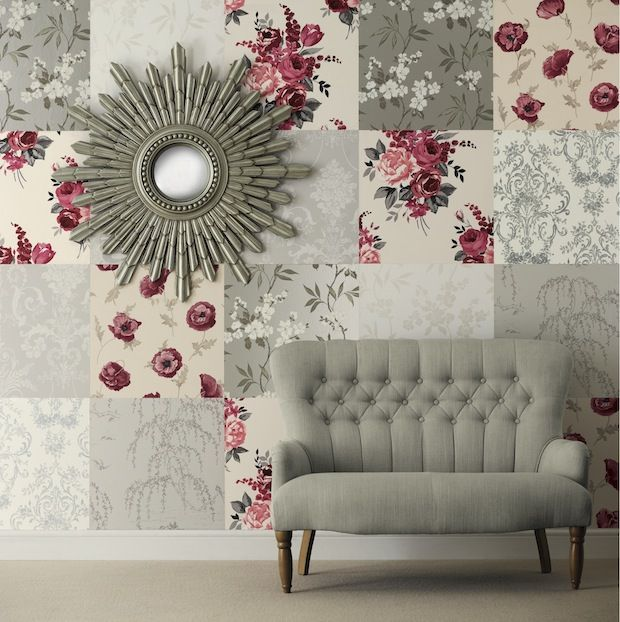 Add Punch To A Room With A Mix Of Various Wallpapers To Create A Dramatic  Feature Idea