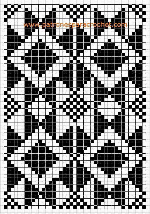 free crochet pattern - wayuu bag | Wayuu minták / Wayuu pattern ...