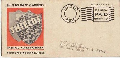 Shields Date Gardens Indio California Advertising Brochure 1930s Indio California Brochure Dating