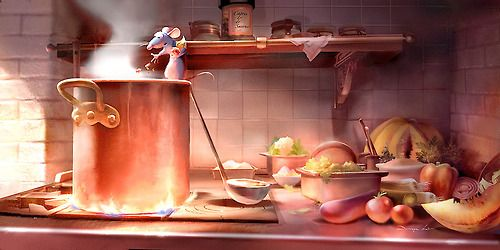 Ratatouille lighting study by Sharon Calahan