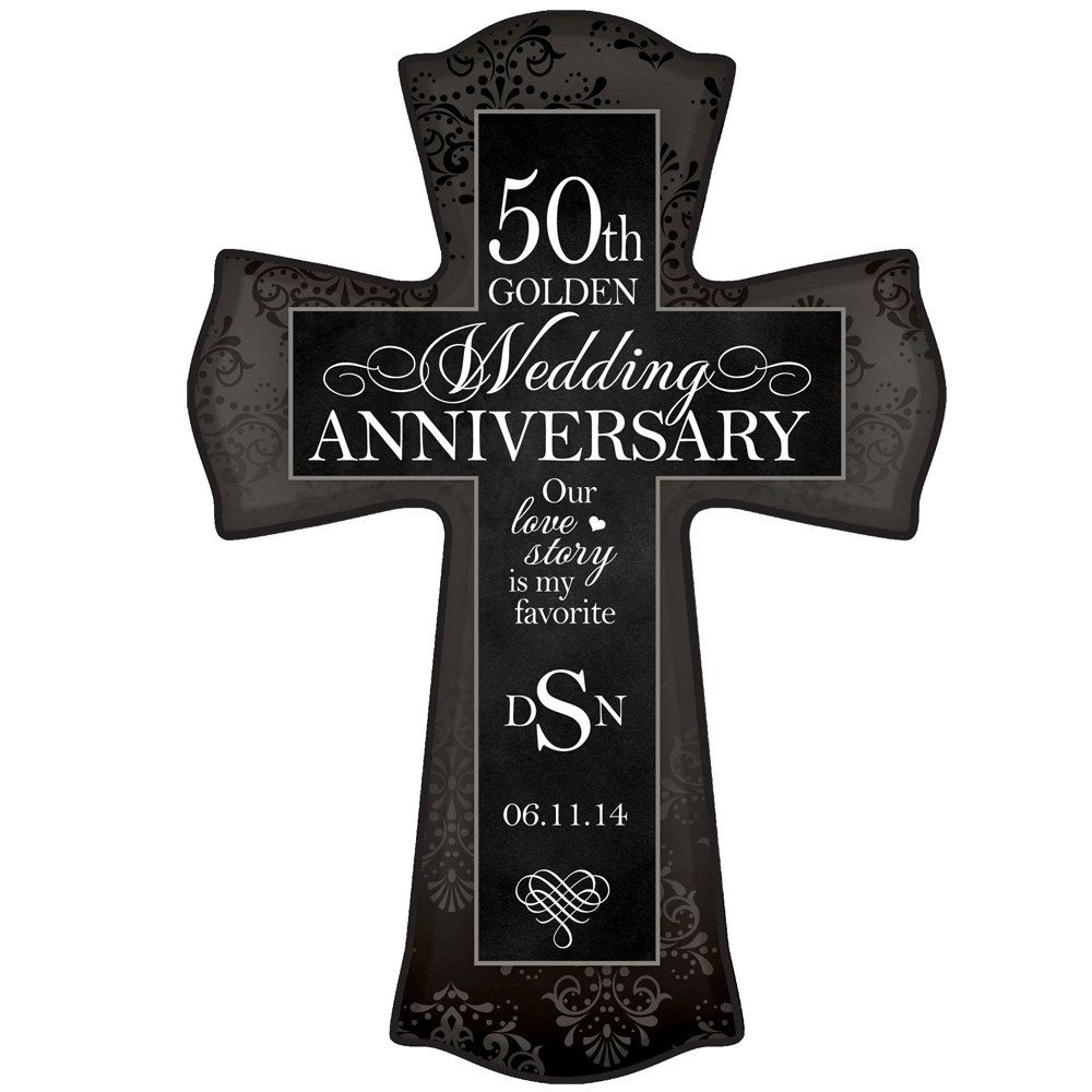 Personalized 50th Wedding Anniversary Wall Cross 50th Anniversary