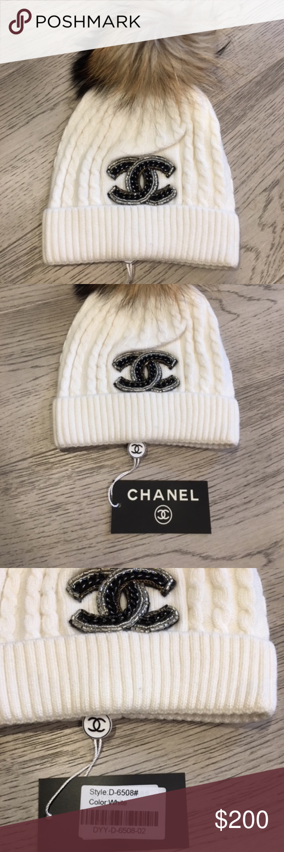 NWT Chanel Knit Wool Rabbit Hair Hat with Pom Pom Brand new. One size fits  most. Pom Pom is made of rabbit fur. Very warm. CHANEL Accessories Hats 34ed574007c