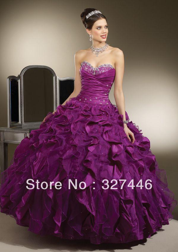 vestido de 15 anos roxo baratos vestidos quinceanera | My world ...