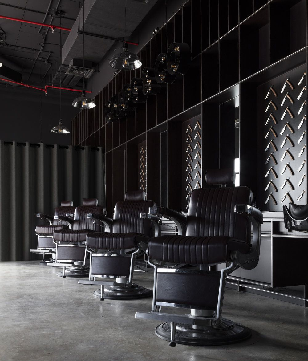 Pin By Cory Jones On Chaps Co Jlt Dubai Barbershop Retail Design Barbershop Design Interior Barber Shop Interior Barbershop Design