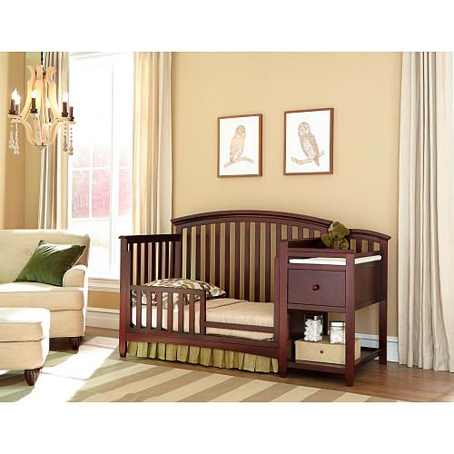 Westwood Design Montville 4 In 1 Crib And Changer Combo With Pad Chocolate Mist Crib And Changing Table Combo Crib With Changing Table Baby Furniture Sets
