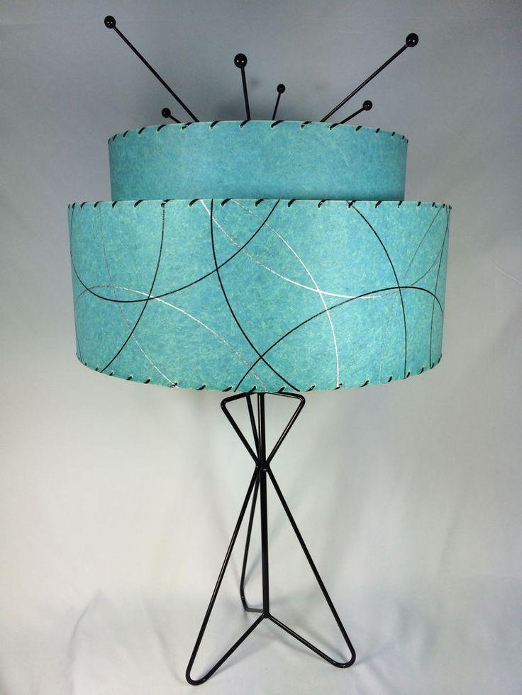 Retro Vintage style 2 TIER fiberglass lamp shade MID CENTURY ...