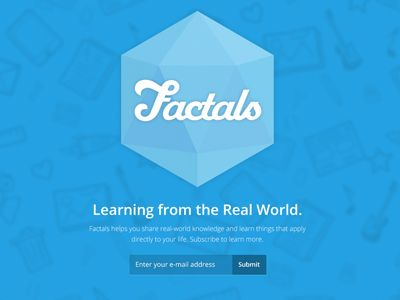 Factals Landing Page by Cole Winans (Boulder, Colorado)