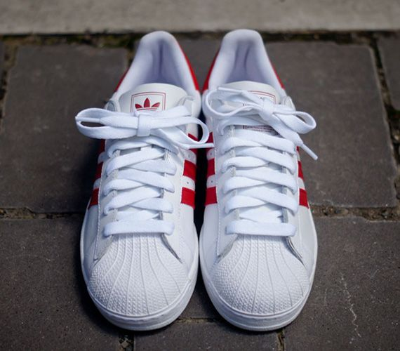 Adidas Originals Superstar Ii White Red Sneakernews Com High