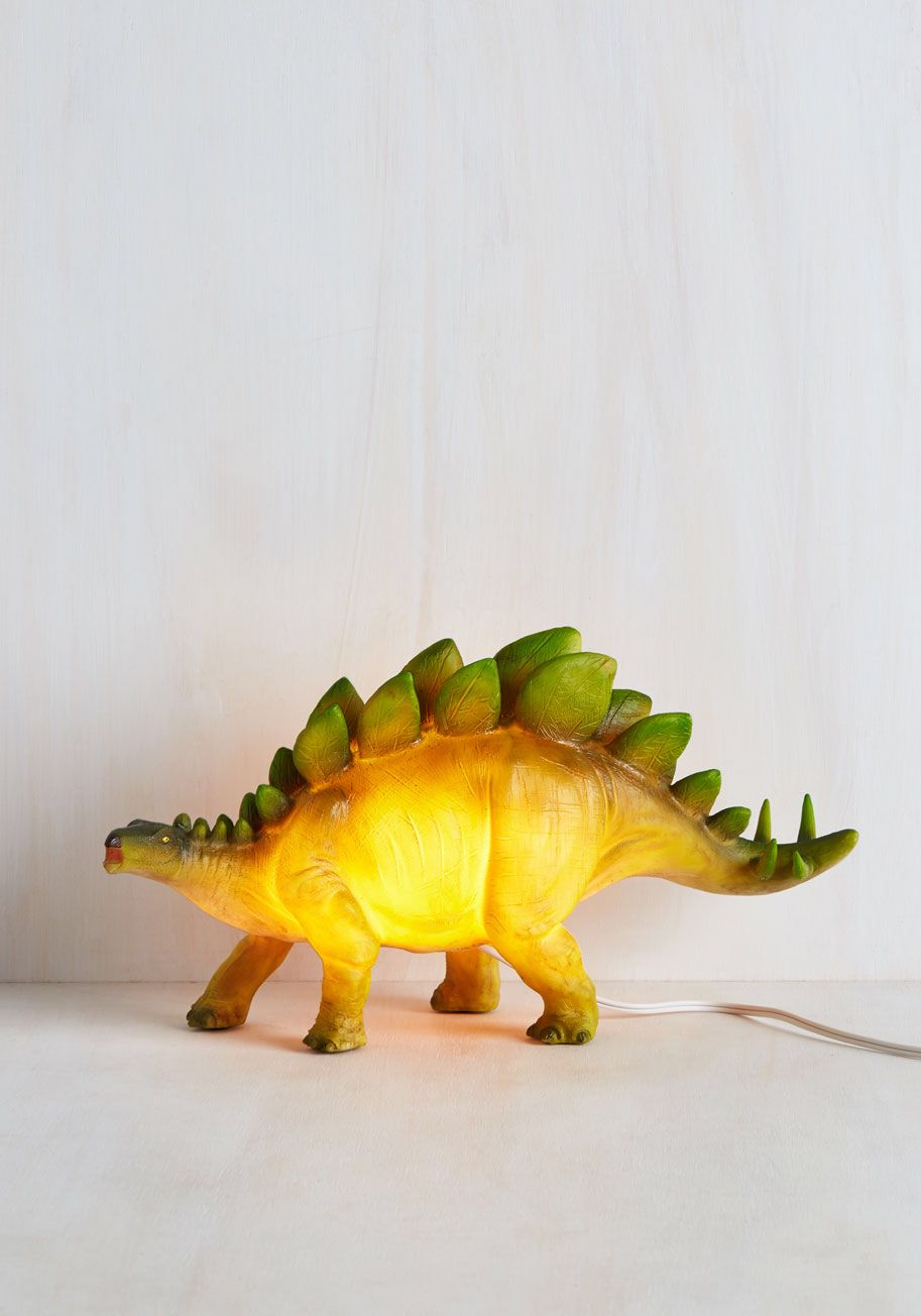 For a dinophiliac: Sight for Saur Eyes Lamp in Stegosaurus, #ModCloth