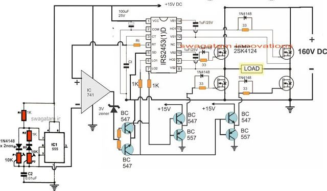 3 best transformerless inverters with circuit diagrams