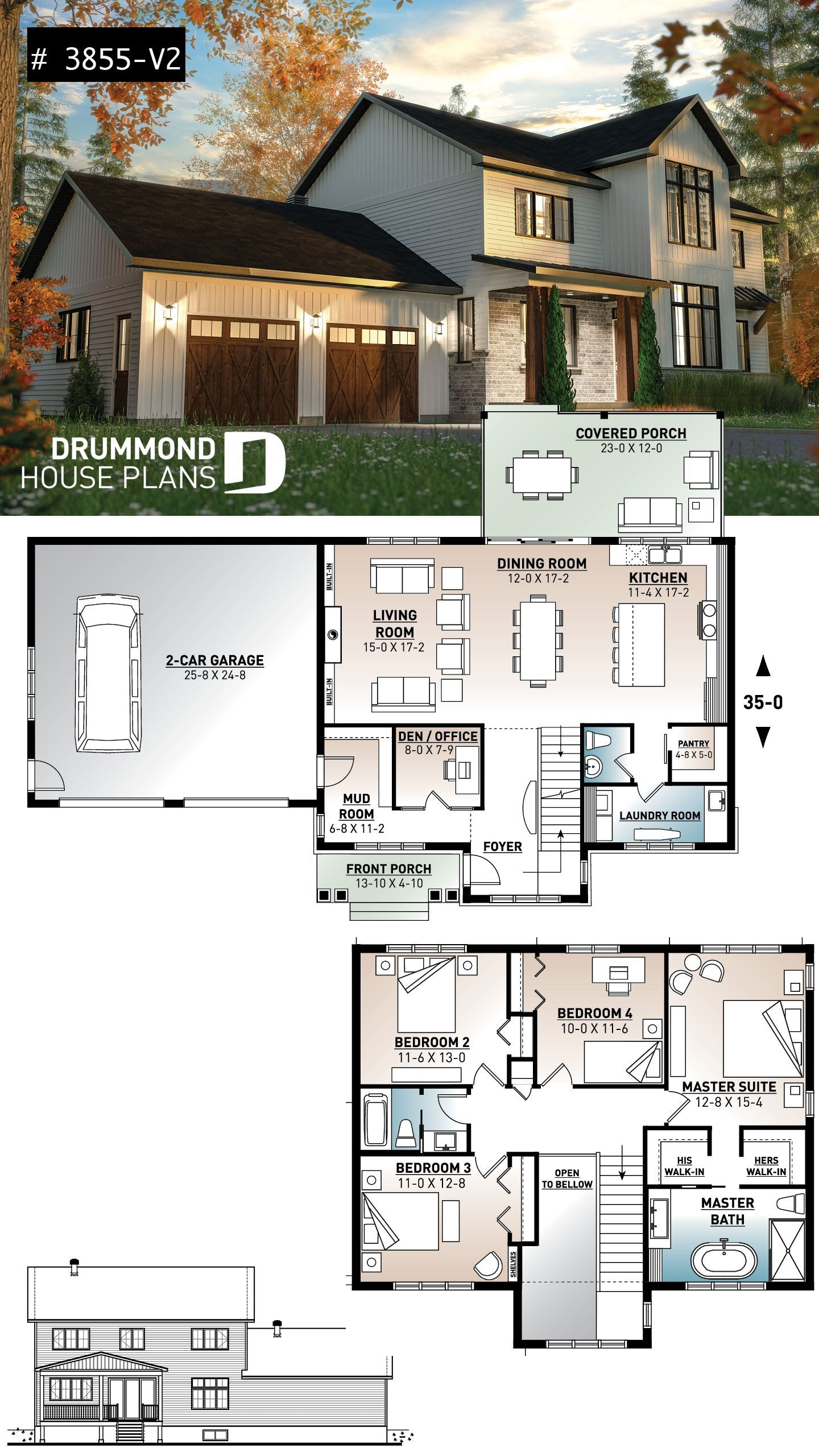 Bloxburg House Ideas 2 Floor In 2020 4 Bedroom House Plans Farmhouse Plans House Plans Farmhouse
