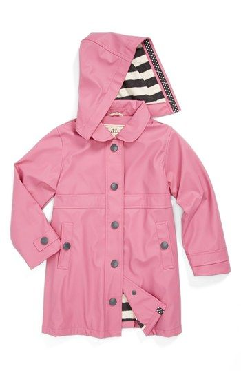 Free shipping and returns on Hatley 'Orchid Lily' Rain Jacket ...