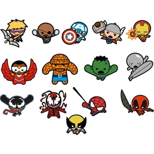 Kawaii Marvel Superheroes Fathead Collection Marvel Superheroes