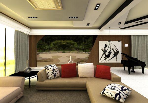 Modern Zen Living Room By Jocelyn Lo Via Behance
