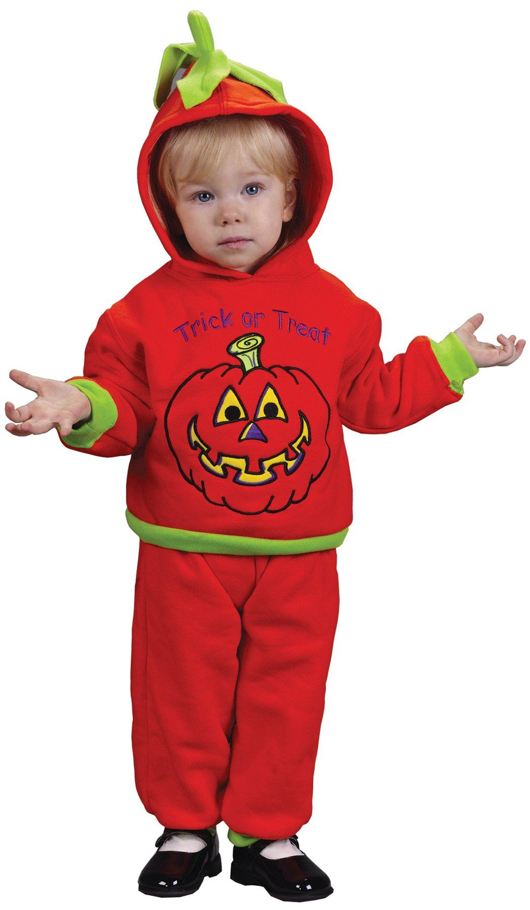 Hooded Pumpkin Toddler Costume 2Pc 18 24 Mo (With images