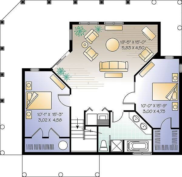 The Trail Seeker 3 1200 - 3 Bedrooms and 25 Baths The House - Plan Architecture Maison 100m2
