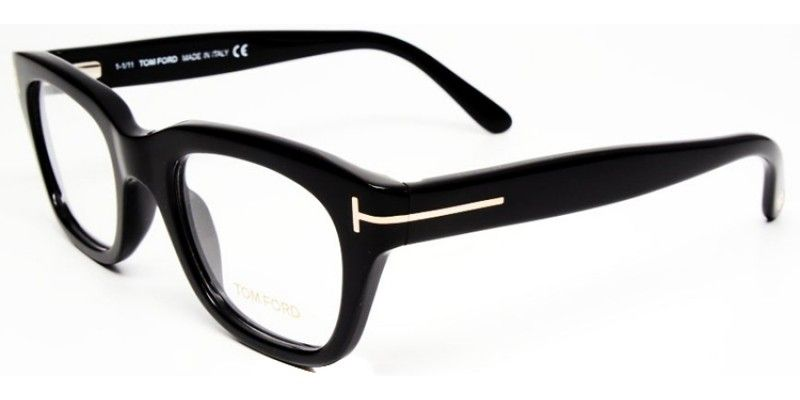a62b1604b5e Tom Ford FT 5178 001 Black Square Plastic Eyeglasses
