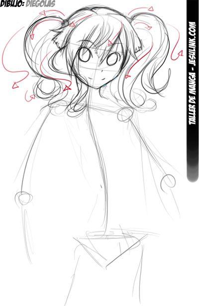 Taller De Manga Como Dibujar Una Chica Manga En 10 Pasos Chica Manga Como Dibujar Cuerpo Anime Como Dibujar