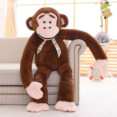 Stuffed Toy Long Arms Monkey Huge 130cm Chocolate Colour Monkey