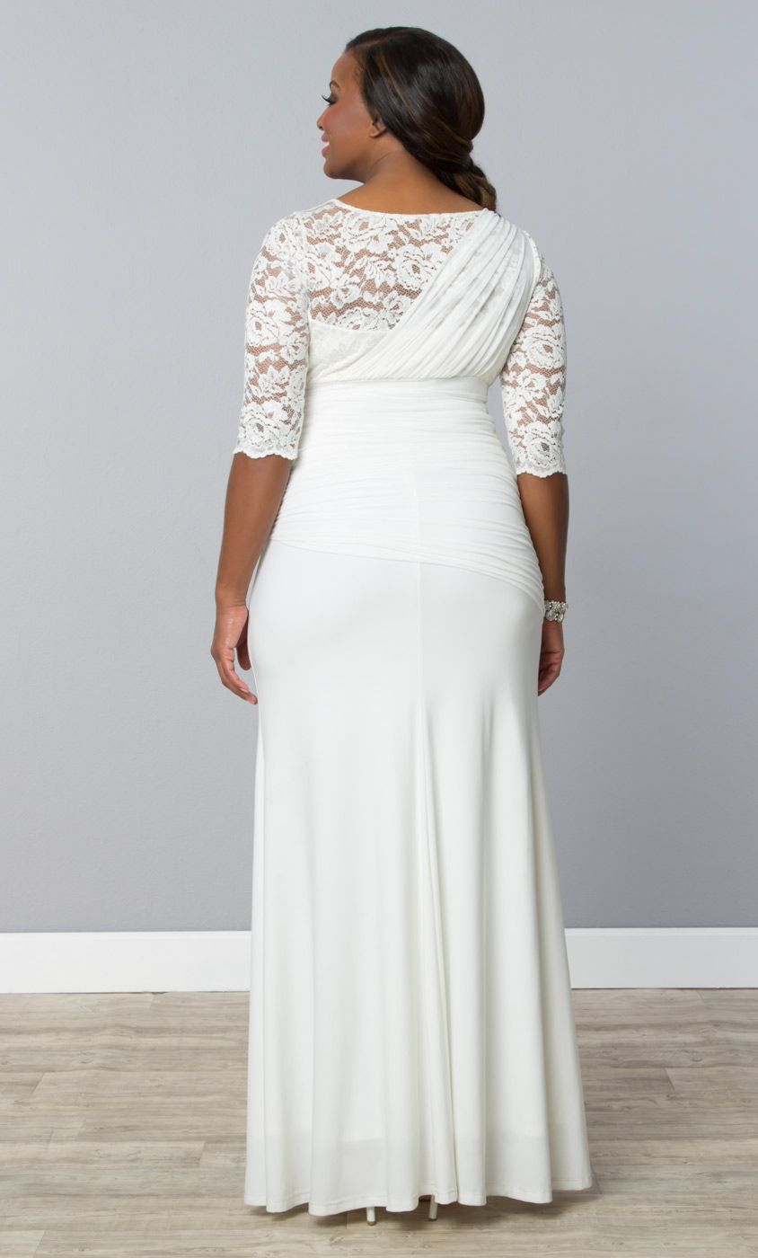 Our Plus Size Elegant Aisle Wedding Gown Flows From Top To Bottom With Its Sheer Delicate Plus Size Wedding Gowns Plus Size Wedding Wedding Dresses Strapless [ 1400 x 844 Pixel ]