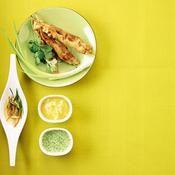 Brochettes de poulet et mayonnaise aux agrumes - une recette Barbecue - Cuisine