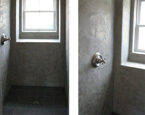 Pin By Heather Mckee On Home Sweet Home Concrete Shower Custom Bathroom Concrete Bathroom