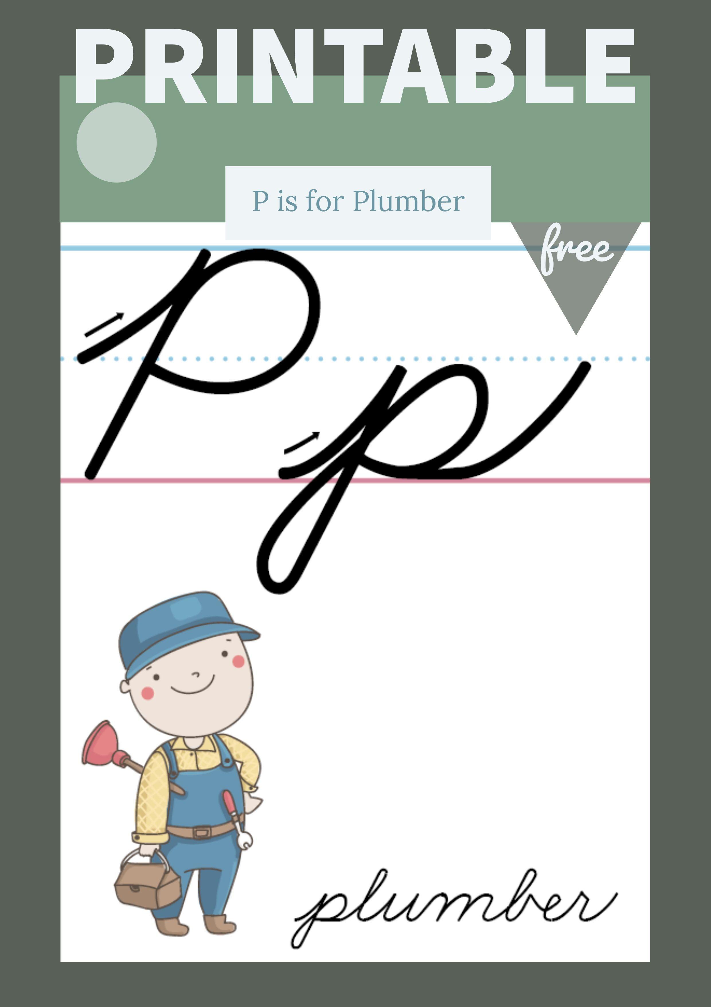 The Letter P In Cursive