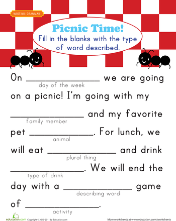 Fill In A Funny Story 3 Worksheet Education Com Funny Stories Funny Words Education Com