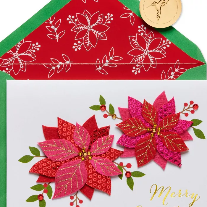 Poinsettia Christmas Greeting Card Papyrus in 2020