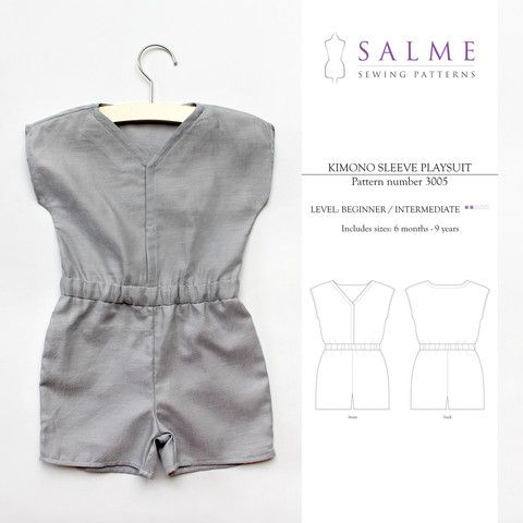 Salme Kid\'s Sewing Patterns | Wee Style | Pinterest | Kids s, Sewing ...