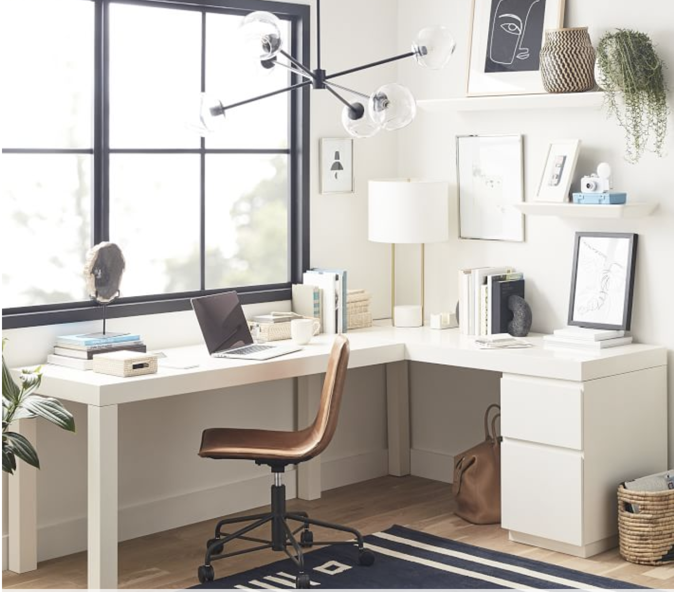 Parsons L Shaped Desk File Cabinet Set In 2020 Parsons Desk L