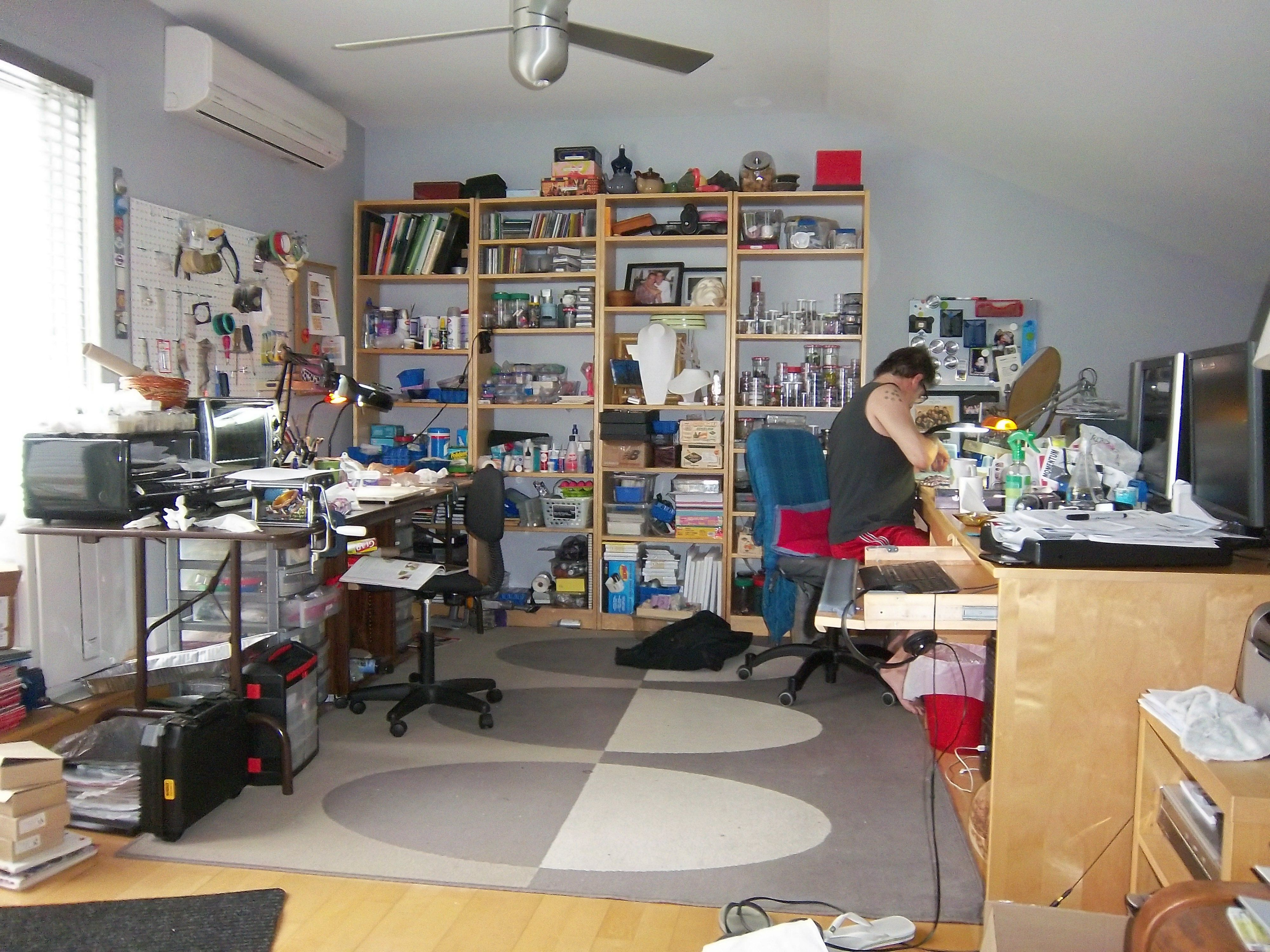 Massimo's Awwwsimo's studio!!!!! I could LIVE in it!