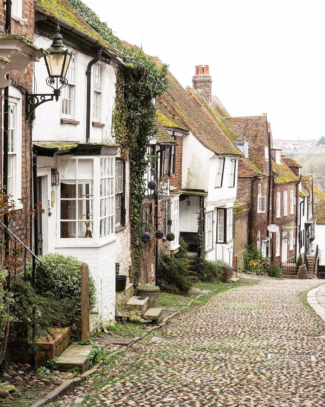The cobbled Mermaid Street in Rye, with its old quaint houses, is oh so charming and quintessentially British