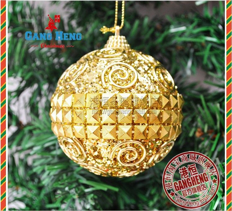 Christmas Tree Ornaments 10 Cm Gold Christmas Balls In Christmas Decoration  Supplies From Home Garden