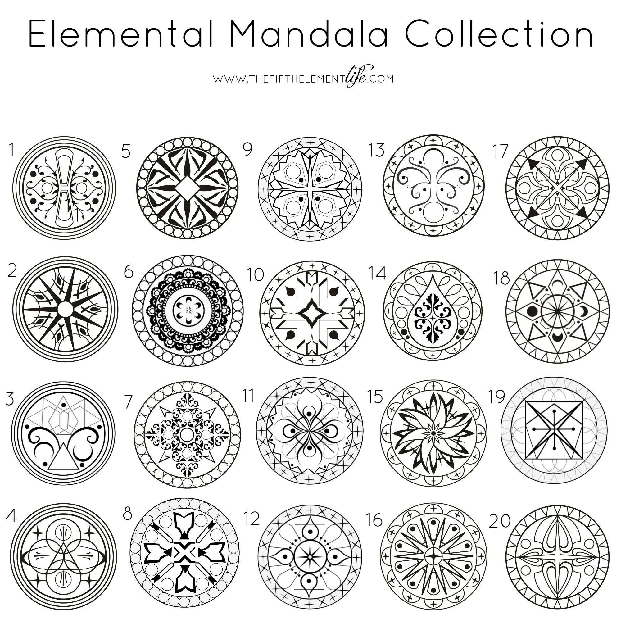 Elemental mandala collection close your eyes for 3 seconds then open and chose a mandala it - Peinture sur galet mandala ...