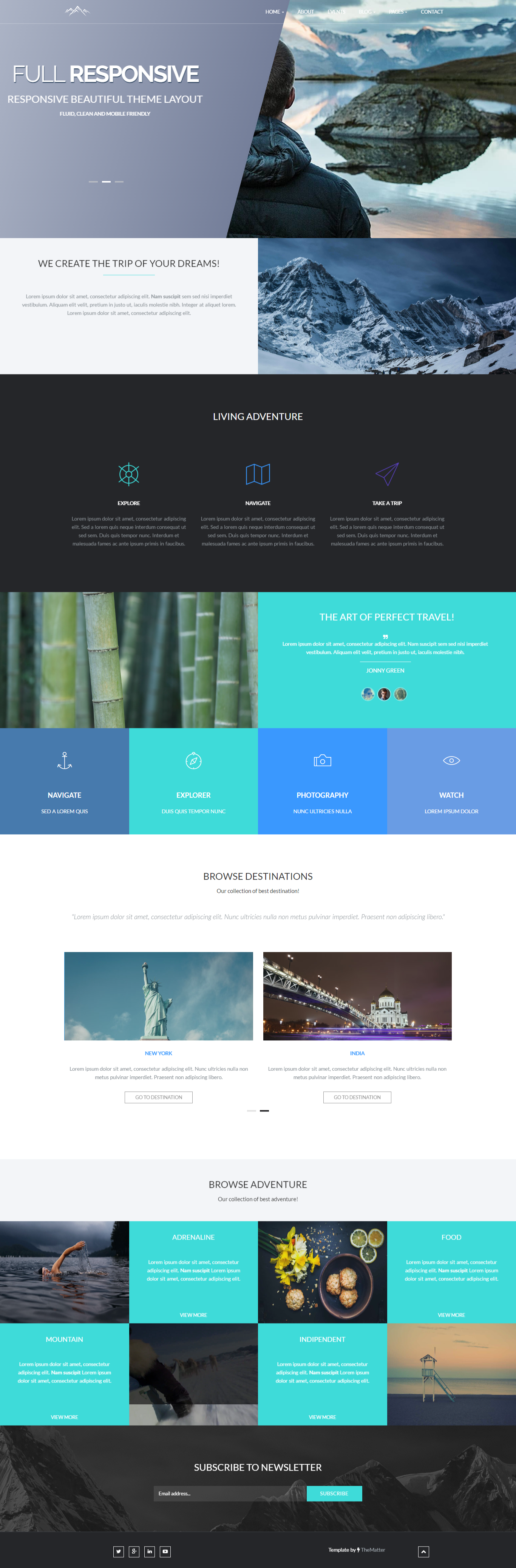 Adventura is a premium multipage site that built-in creative ...