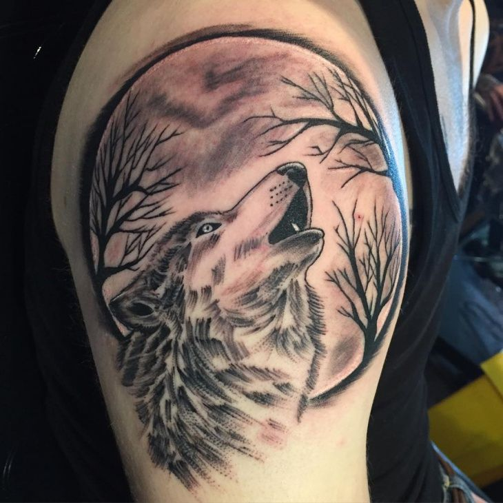 50 Breathtaking Wolf Tattoo Designs Tats N Rings Wolf Tattoos Men Wolf And Moon Tattoo Tribal Wolf Tattoo