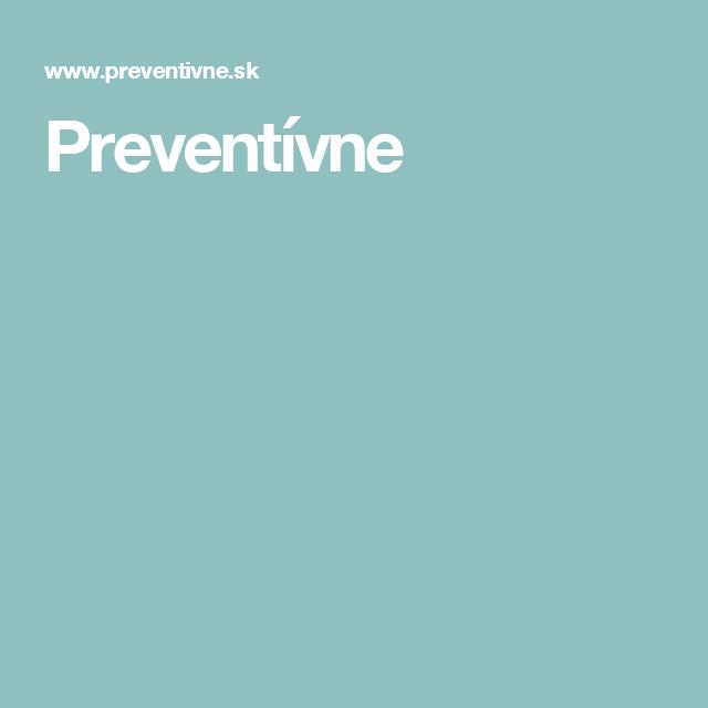 Preventívne