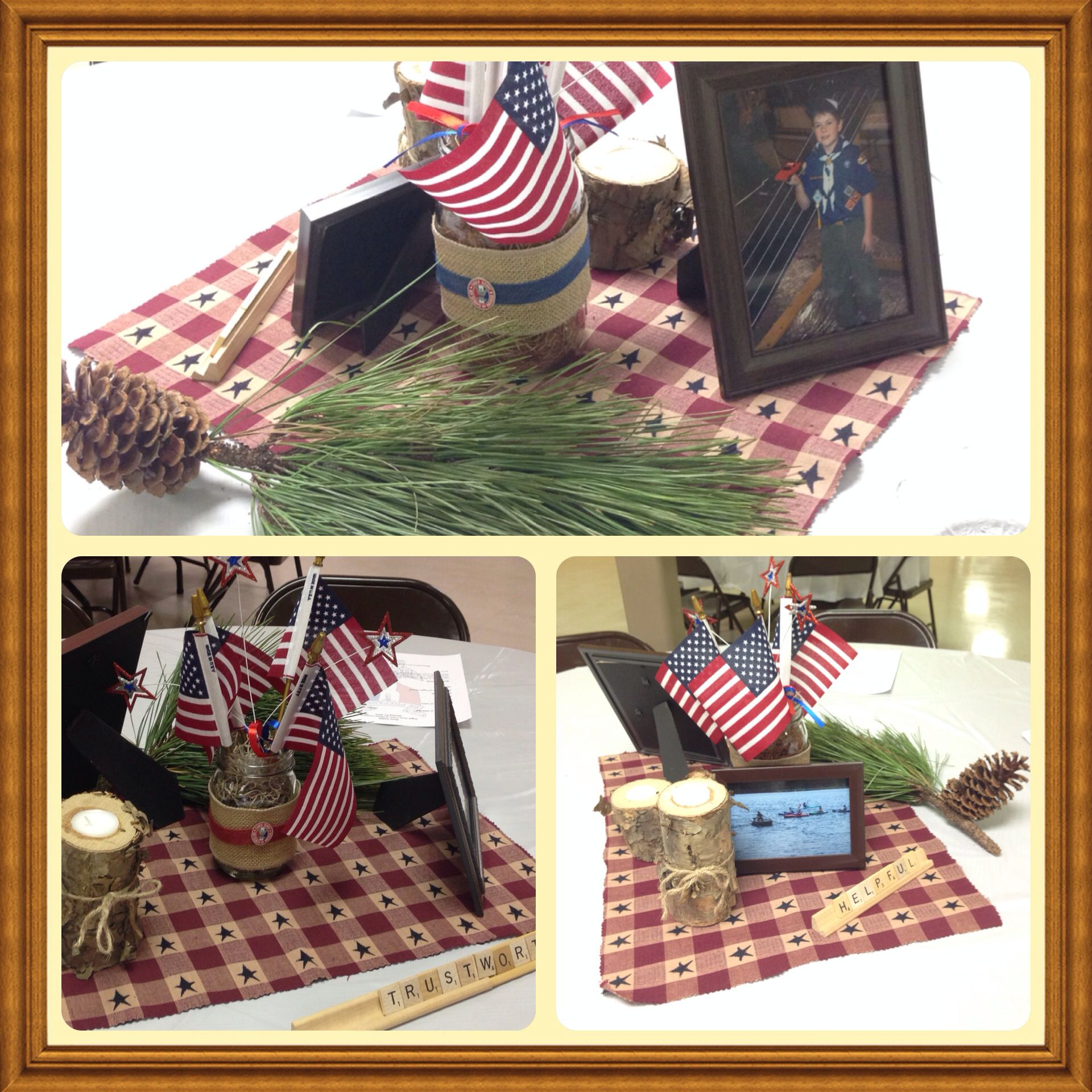 foto de Eagle Scout court of honor table centerpieces with