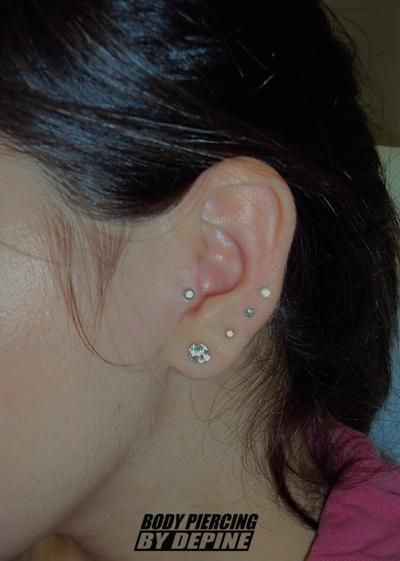 0c62b342b Tragus Piercing With Tiny Diamond   Piercing:   Tragus piercings ...