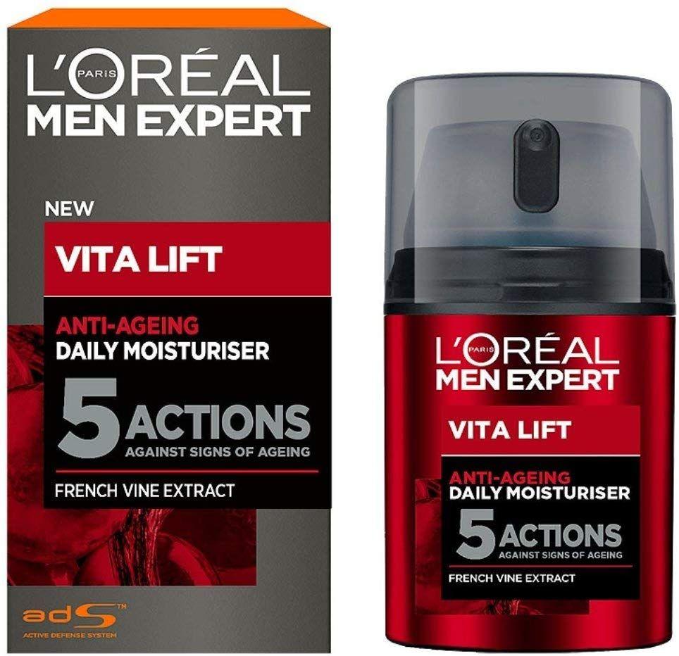 L Oreal Men S Expert Vita Lift 5 Moisturiser Complete Anti Ageing Cream 50ml 1 375 00 Loreal Mens Ex Anti Ageing Moisturiser Moisturizer Daily Moisturizer