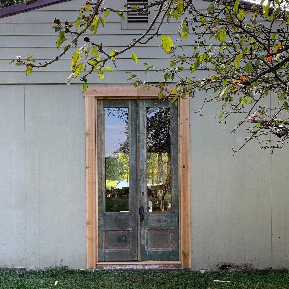 Diy barn doors using antique wooden french doors diy